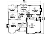 Victorian Style House Plan - 3 Beds 2 Baths 3663 Sq/Ft Plan #25-4775 Floor Plan - Main Floor Plan