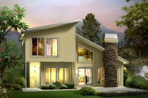 Contemporary Exterior - Front Elevation Plan #57-626