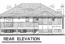 House Blueprint - European Exterior - Rear Elevation Plan #18-301