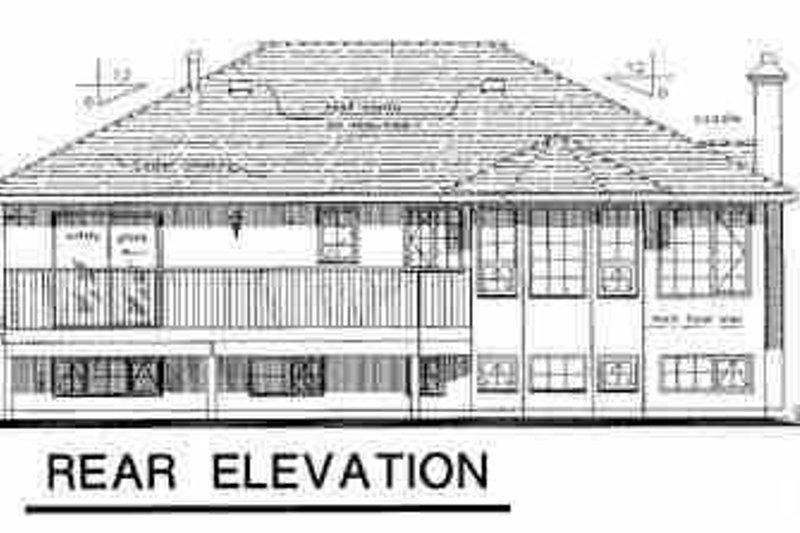 European Exterior - Rear Elevation Plan #18-301 - Houseplans.com