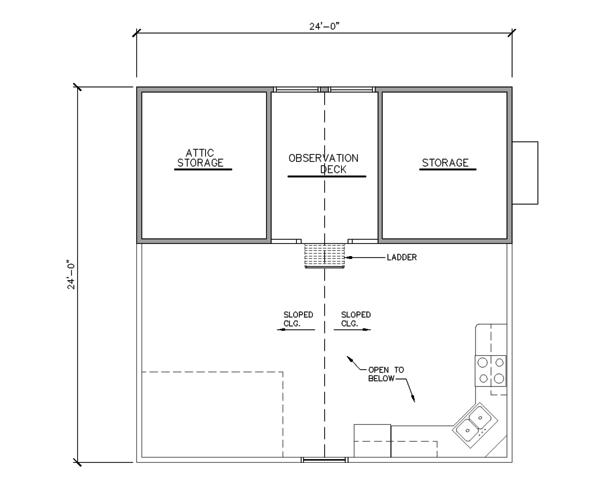 Cabin Floor Plan - Upper Floor Plan Plan #123-115