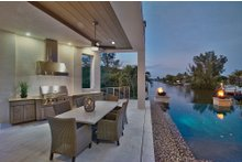 House Plan Design - Contemporary Exterior - Outdoor Living Plan #930-20