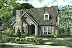 European Exterior - Front Elevation Plan #17-640