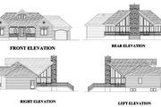 Contemporary Style House Plan - 3 Beds 2 Baths 1501 Sq/Ft Plan #138-223 Exterior - Rear Elevation