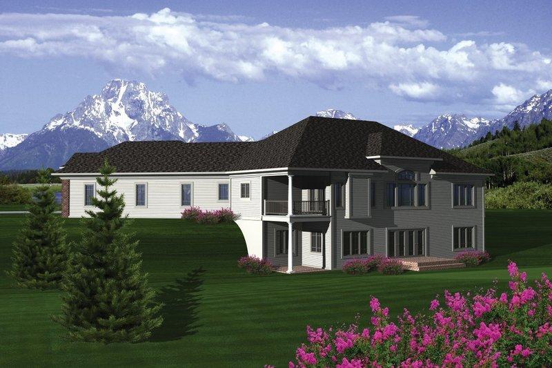 Traditional Exterior - Rear Elevation Plan #70-1091 - Houseplans.com