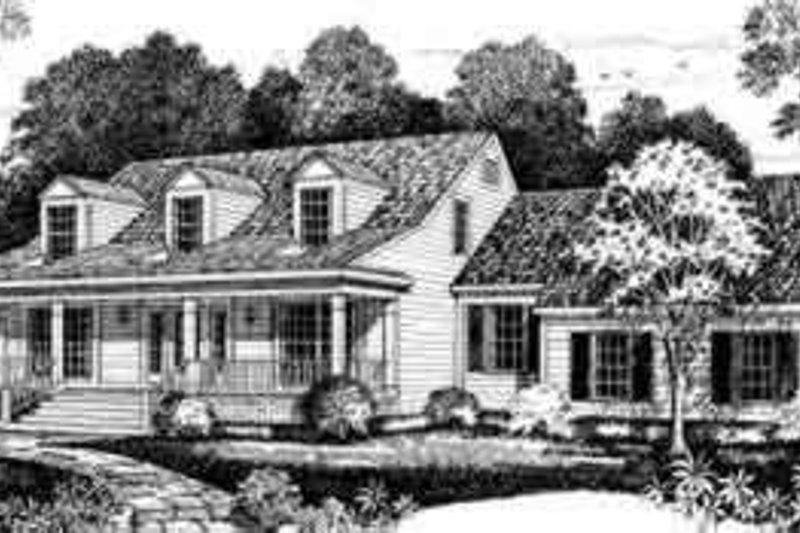 House Blueprint - Farmhouse Exterior - Front Elevation Plan #72-467