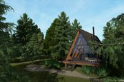 Cabin Style House Plan - 1 Beds 1 Baths 593 Sq/Ft Plan #549-30 Exterior - Front Elevation
