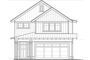 Craftsman Exterior - Front Elevation Plan #895-48