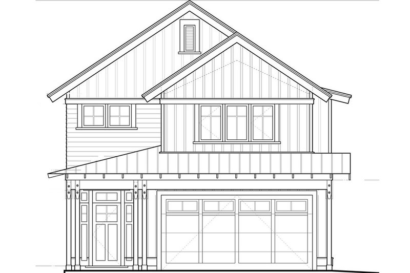 Craftsman Style House Plan - 3 Beds 2.5 Baths 1737 Sq/Ft Plan #895-48