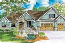 House Plan Design - European Exterior - Front Elevation Plan #124-741