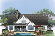 Traditional Style House Plan - 3 Beds 3 Baths 2028 Sq/Ft Plan #929-959 Exterior - Rear Elevation