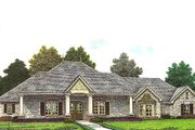Traditional Style House Plan - 3 Beds 2.5 Baths 2341 Sq/Ft Plan #310-960 Exterior - Front Elevation
