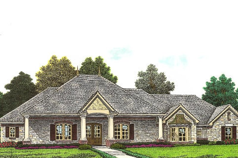 Traditional Exterior - Front Elevation Plan #310-960 - Houseplans.com