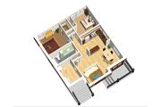 European Style House Plan - 6 Beds 3 Baths 3369 Sq/Ft Plan #25-4355 Floor Plan - Lower Floor Plan