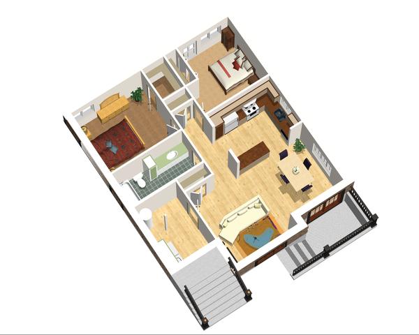 European Floor Plan - Lower Floor Plan Plan #25-4355