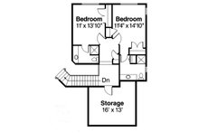Mediterranean Floor Plan - Upper Floor Plan Plan #124-713