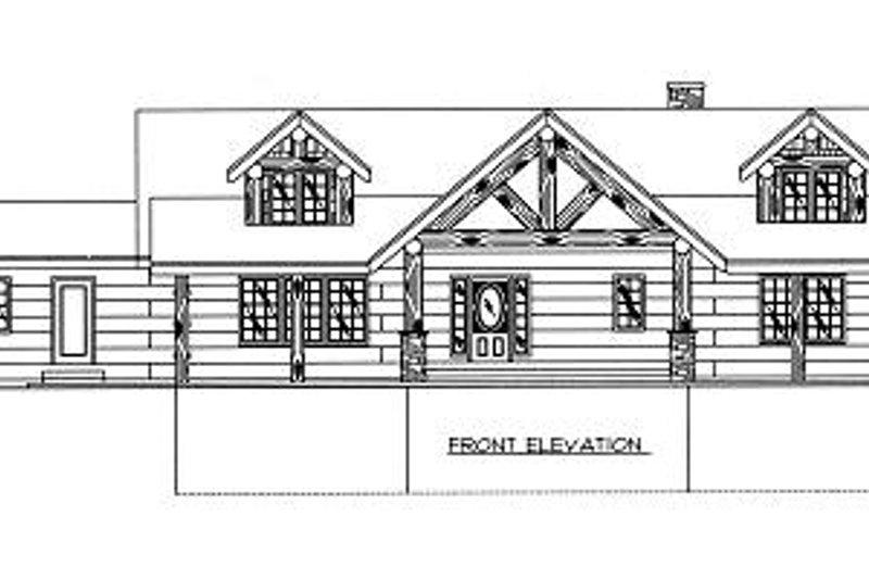 Log Exterior - Other Elevation Plan #117-506 - Houseplans.com