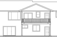 Dream House Plan - Ranch Exterior - Rear Elevation Plan #124-740