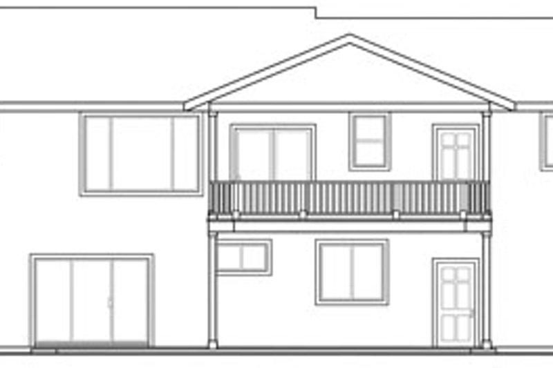 Ranch Exterior - Rear Elevation Plan #124-740 - Houseplans.com