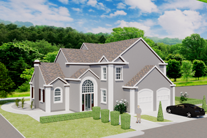 Home Plan - European Exterior - Front Elevation Plan #542-15
