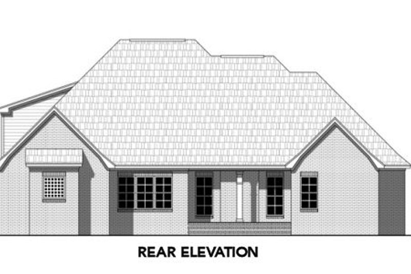 Traditional Exterior - Rear Elevation Plan #21-316 - Houseplans.com