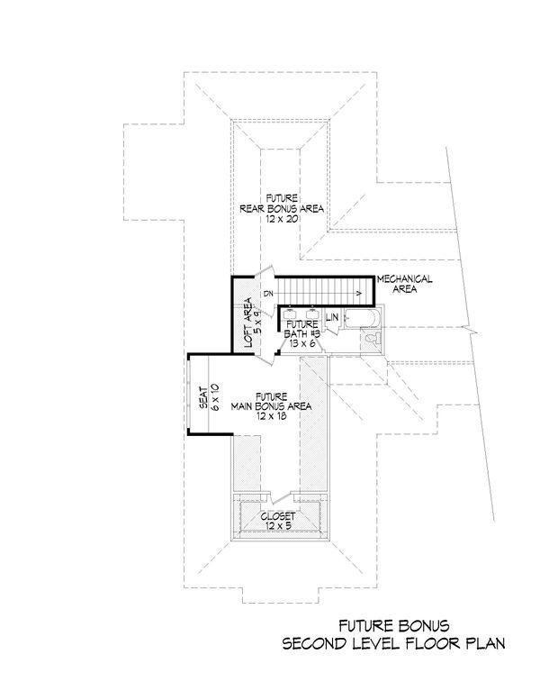 House Design - Country Floor Plan - Upper Floor Plan #932-93