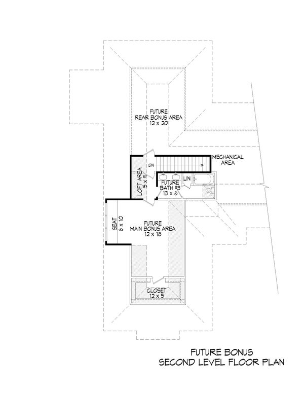 Dream House Plan - Country Floor Plan - Upper Floor Plan #932-93