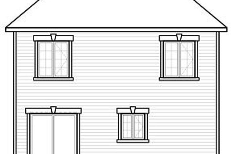 European Exterior - Rear Elevation Plan #23-742 - Houseplans.com