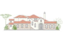 House Plan Design - Mediterranean Exterior - Other Elevation Plan #80-197