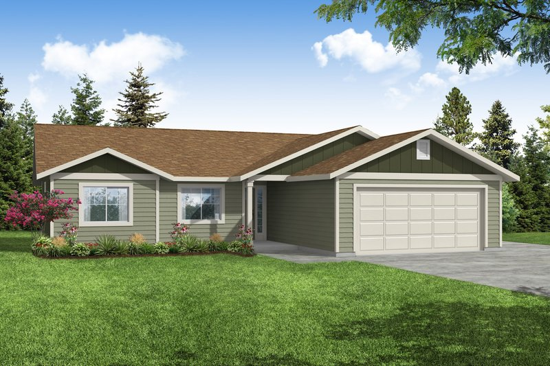 Dream House Plan - Ranch Exterior - Front Elevation Plan #124-1224