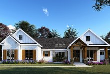 Home Plan - Farmhouse Exterior - Front Elevation Plan #923-154