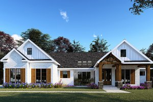 Home Plan Design - Farmhouse Exterior - Front Elevation Plan #923-154