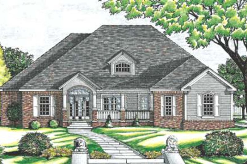 Traditional Exterior - Other Elevation Plan #20-1005 - Houseplans.com