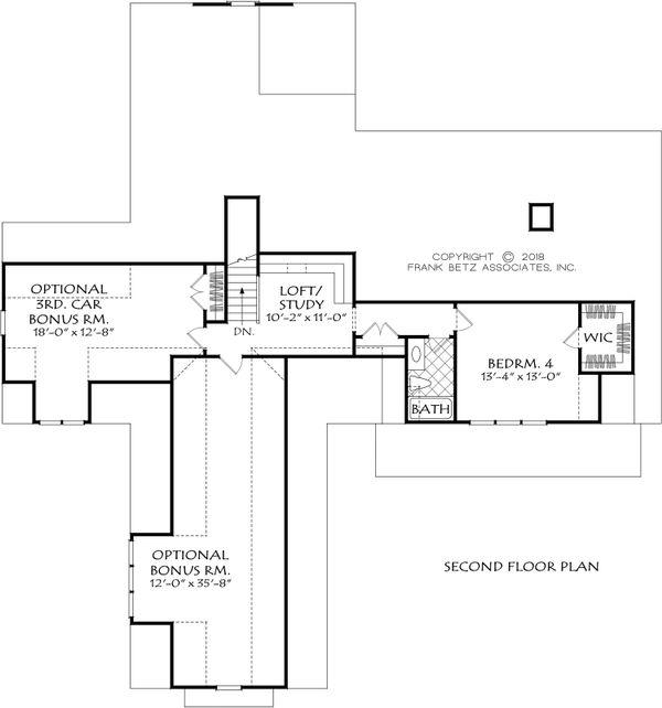 Farmhouse Floor Plan - Upper Floor Plan Plan #927-994