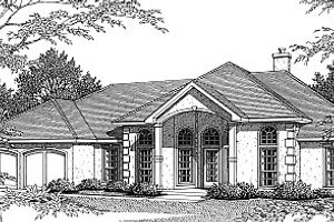 Dream House Plan - Mediterranean Exterior - Front Elevation Plan #14-106