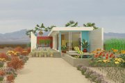 Contemporary Style House Plan - 1 Beds 1 Baths 493 Sq/Ft Plan #917-1 Exterior - Front Elevation
