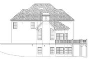 European Style House Plan - 4 Beds 3.5 Baths 2942 Sq/Ft Plan #119-292 Exterior - Rear Elevation