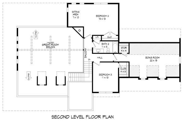 Dream House Plan - Country Floor Plan - Upper Floor Plan #932-258