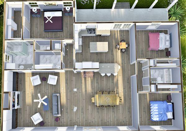 Dream House Plan - Traditional Floor Plan - Other Floor Plan #44-250