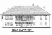 Traditional Style House Plan - 4 Beds 2.5 Baths 2288 Sq/Ft Plan #18-8960 Exterior - Rear Elevation