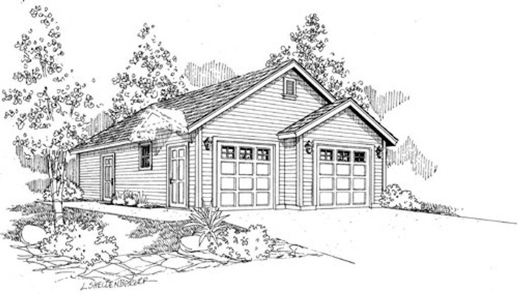 traditional style house plan 0 beds 0 baths 1040 sq ft plan 124 794. Black Bedroom Furniture Sets. Home Design Ideas
