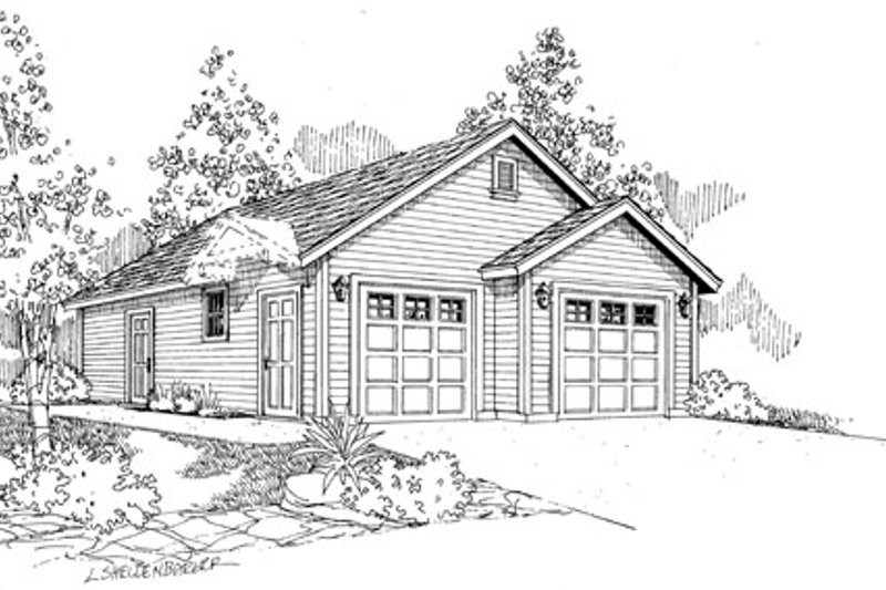 Traditional Exterior - Front Elevation Plan #124-794 - Houseplans.com