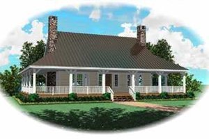 Country Exterior - Front Elevation Plan #81-109
