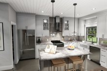 Cottage Interior - Kitchen Plan #120-273