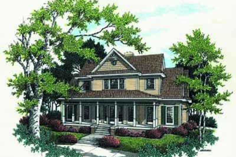 Home Plan - Farmhouse Exterior - Front Elevation Plan #45-140