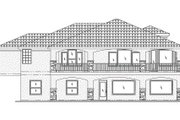 Adobe / Southwestern Style House Plan - 6 Beds 3 Baths 4140 Sq/Ft Plan #24-247 Exterior - Rear Elevation