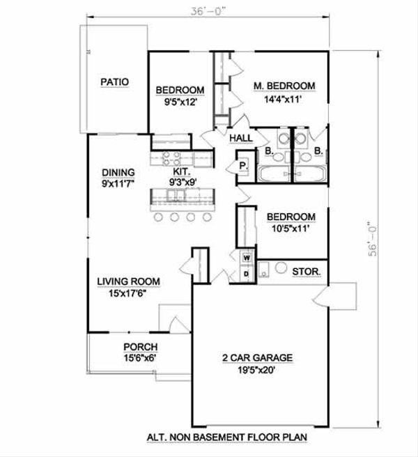 Farmhouse Floor Plan - Other Floor Plan Plan #116-263