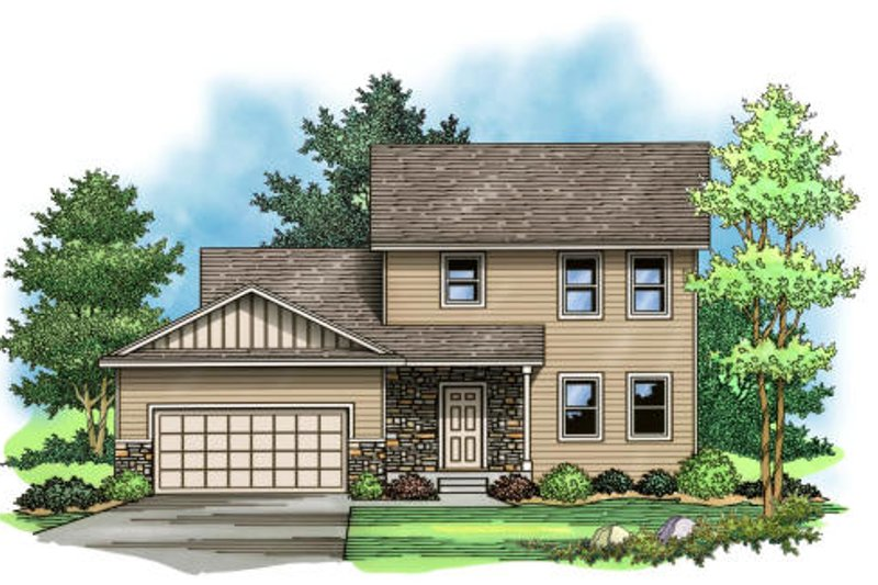 Traditional Exterior - Front Elevation Plan #51-375 - Houseplans.com