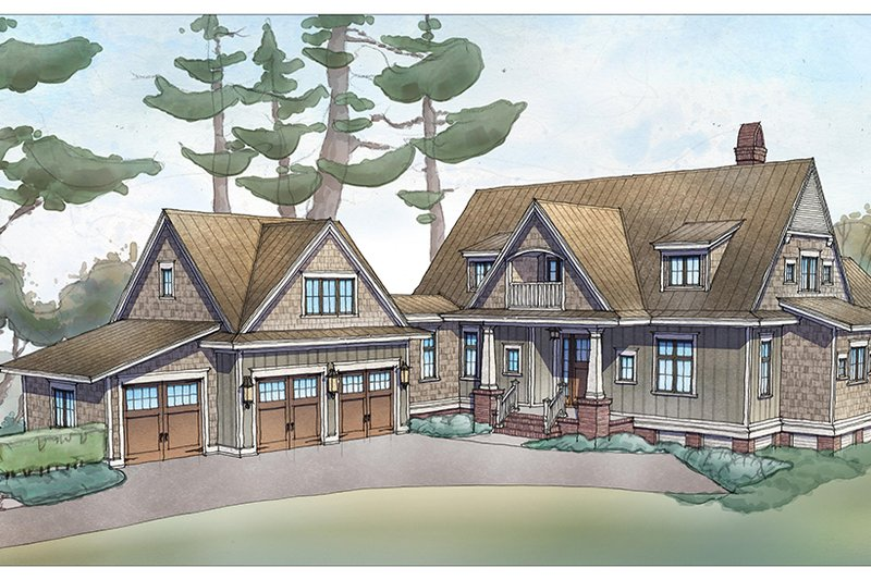 Country Exterior - Front Elevation Plan #928-337