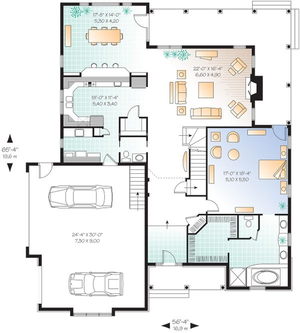 Dream House Plan - Main Level Floor Plan - 3000 square foot Traditional home